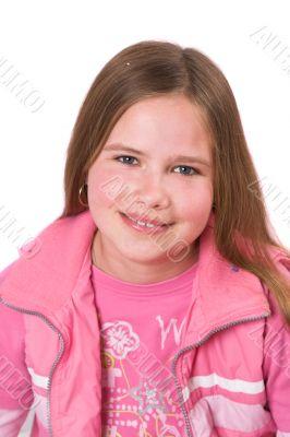 Smiling ten year old girl