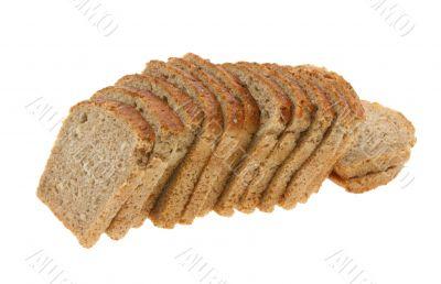 delicious sliced dark bread