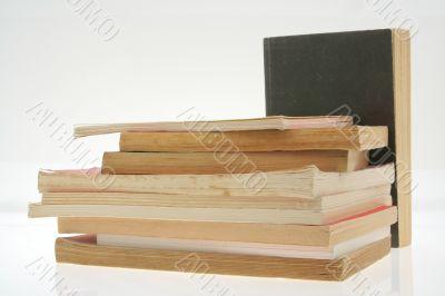 old books pile