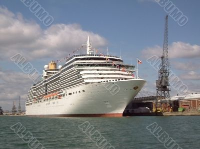 passenger liner at dock