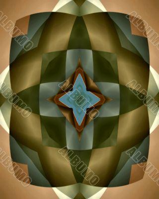 Burnished harlequin star tile