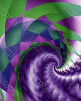 Harlquin and braid swirl