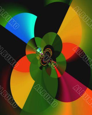 Dancing discs of royal colors