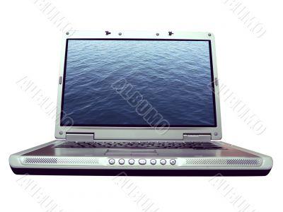 computer - laptop water ripple