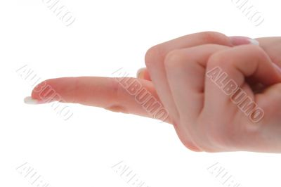 forefinger lifting an invisible object