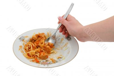 sweet chicken with pasta