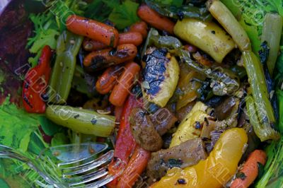 Fresh Grilled Variety of Summer Vegetables