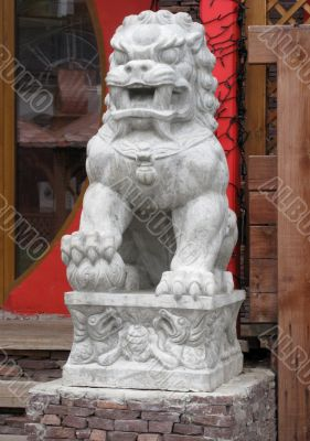 Unusual statue