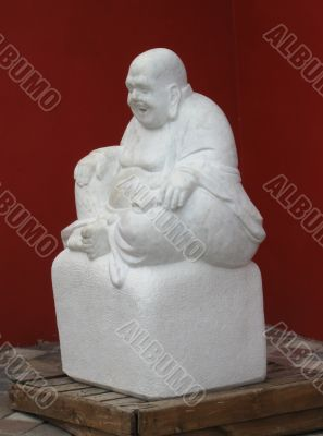 Statue of old chinese man
