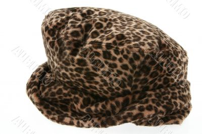 panther pattern  hat on white
