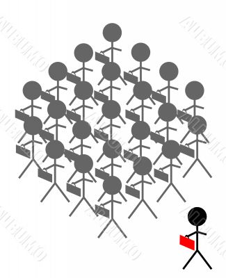 Stand Out From the Crowd Illustration