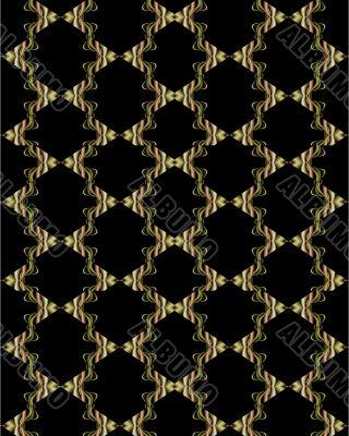 Formal metallic toned lattice wallpaper