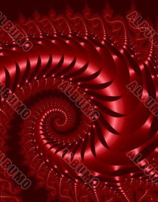 Red Fractal Metallic Serpent