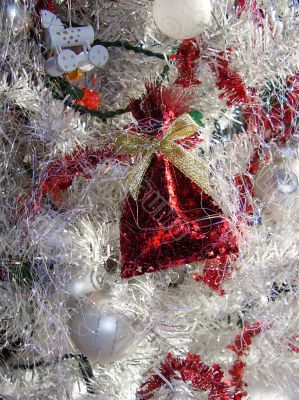 Decorated Christmas tree detail