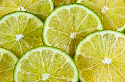 Lime Fruit Slice Background