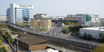 Southampton view of commerce and rail transport