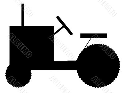 silhouette of the tractor