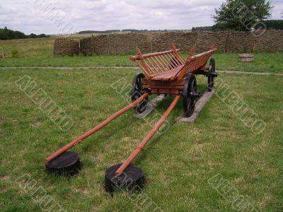 aging wooden cart