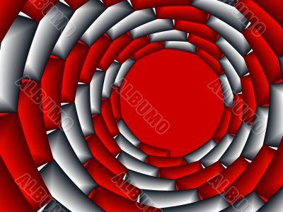 Layered target fram