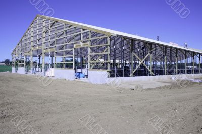 massive dairy barn construction