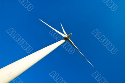Environmental Energy Windmill with Sky Background