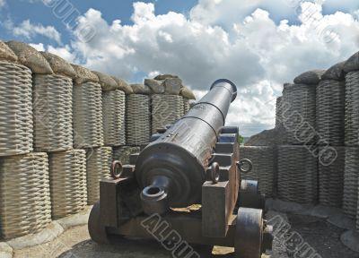 Gun of times of the Crimean war of 1854