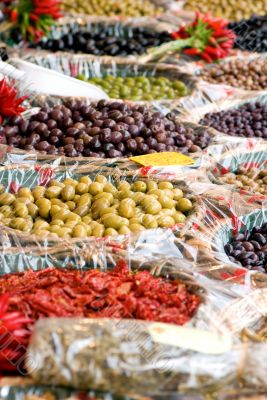 Open Market Olive Display
