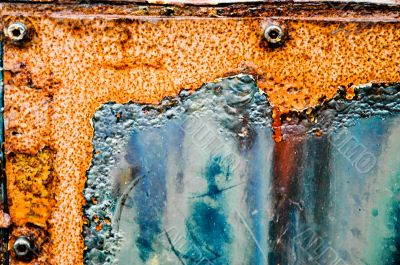 Grungy Rusting Metal Container
