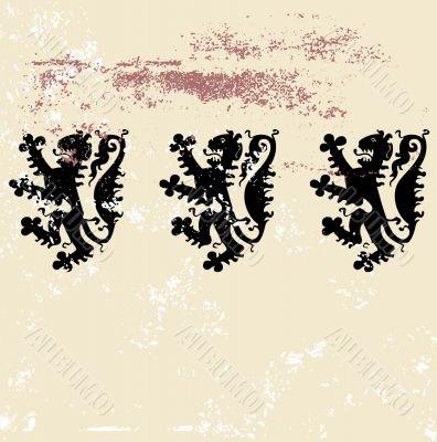 three  heraldic  lions