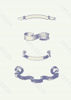 series of vector scrolls.