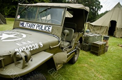 WW II Military Police Jeep