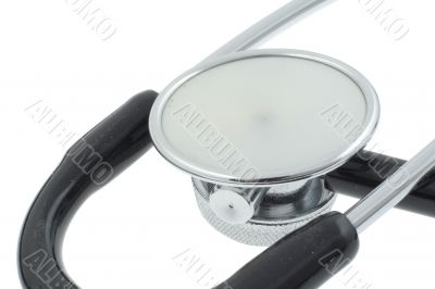 stethoscope on white - real macro