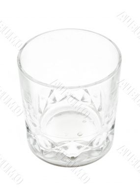 whisky glass on pure white background