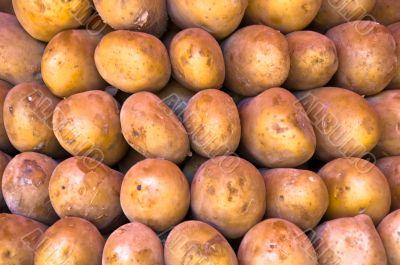Market Stack of Vegetables - Potatoes