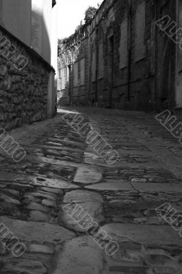 Old town Eriche in Sicily at summer
