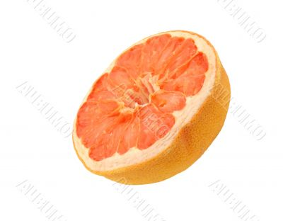 dried grapefruit - isolated