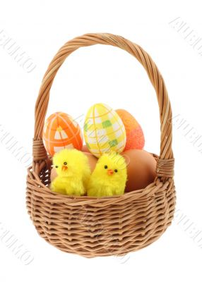 easter basket  pure white background