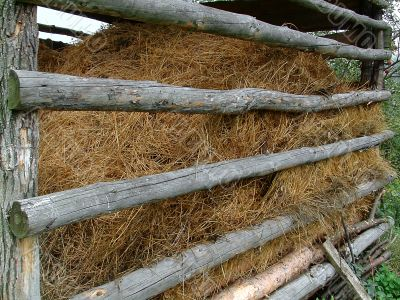 Shelter for hay