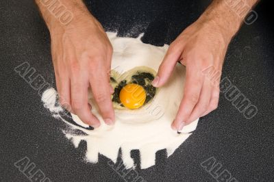 Making Pasta - Egg and Flour