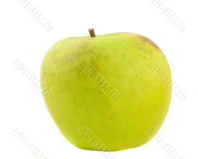 green apple on pure white background