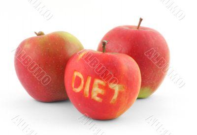 diet concept on white background