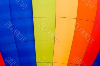 Striped Hot Air Balloon Close Up