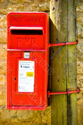 Traditional British Red Letterbox