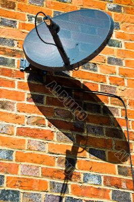 Satellite DIsh and Shadow