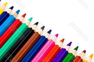 Colored Pencil - Crayon Diagonal