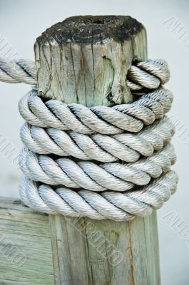 Rope Tied around Post