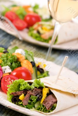 Chicken and Beef Wrap