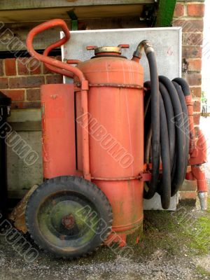 old fire fighting appliance