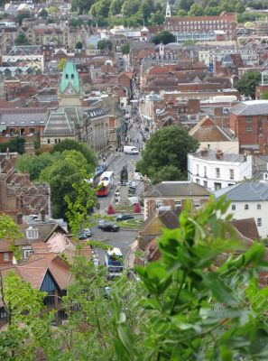 view of winchester from above