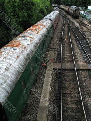 old trains waiting refurbishment